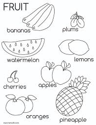 Awesome Collection Of Fruits Coloring Pages Pdf On Sheets