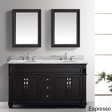 virtu usa victoria 60 inch double sink bathroom vanity set