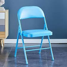 kljlfjk klappstuhl einfacher hocker rückenlehnensessel geeignet für küche esszimmer schlafzimmer büro 4er set rosa stühle blau
