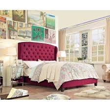 Roma Tufted Wingback Headboard Oyster Fullqueen by Bedroom Beautiful Bedroom Designs With Wingback Headboard