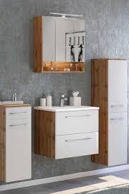 badezimmerset vidorella in weiß und wildeiche optik 120 cm