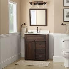 Style Selections Morriston Distressed Java Undermount Single Sink Bathroom Vanity With Engineered Stone Top Common