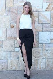 long skirt black knot front maxi skirt ustrendy