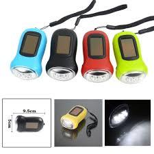 le de poche a manivelle nouveau 3 led solaire alimenté mini le de poche à manivelle
