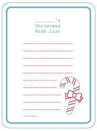 Printable Childs Christmas Wish List For Project Life