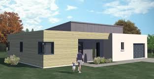 maison plain pied 2 chambres construction 86 fr plan maison contemporaine à étage de type 6