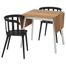 ikea ikea ps 2012 ikea ps 2012 tisch und 2 stühle bambus schwarz