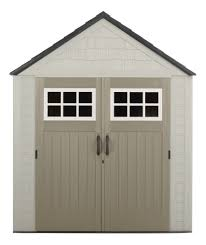 Roughneck Storage Shed Accessories by Rubbermaid 1887155 Outdoor Resin Storage Shed 7 U0027 X 7 U0027