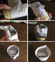 Newspaper Seed Pot Tutorial2