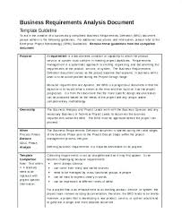 Business Requirements Analysis Template Document Inspirational Examples Gap Templates Samples