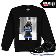 100 Space Jam Foams Match Jordan 11 Haters Will Say Black Crewneck Sweatshirt