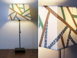 Fabric Tape Lampshade Makeover