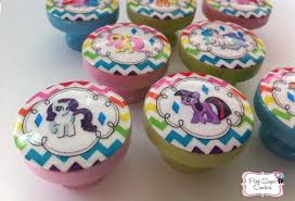 Pink Chevron Dresser Knobs by My Little Pony Drawer Knobs Kids Nursery Decor Twilight