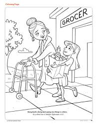 Helping Others Coloring Pages Page 1 Throughout The Brilliant To Inspire