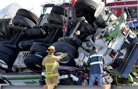 5 Dead After Fiery Crash That Temporarily Closed 10 Freeway In ... 4 Injured After Semitruck And Greyhound Bus Crash Near Kettleman Best Truck Crashes 2015 2016 Driver Leaps To Safety As Train Into Inside Edition Tesla Owner Says Autopilot Saved Him From A Nearmiss With Video Semitruck Loses Control Crashes Gas Station In Cajon Caught On Video Driver Capes Semi Before Its Hit By Fatigue Contributing Factor Mondays Video Drowsy Driving Leads Fatal Truck At Nevada 3 Due Inattention Snarls Blaine Crossing Route 17 Crash Clip Shows Wreck It Happened Shocking Footage Of Minor Turned Major The 401