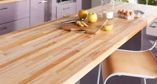 planche pour plan de travail cuisine plan de travail en bois choix et entretien côté maison