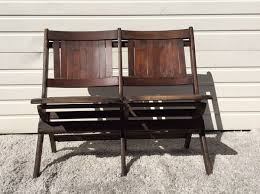 Heywood Wakefield Chairs Antique by Antique Heywood Wakefield Folding Wood Tandem Benches Furniture