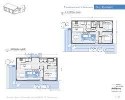 100 Blu Homes Prefab Element 1 2 BR 1 BA Floor Plans Moderns