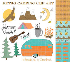 Vintage Camping Clipart 1