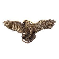big american flying eagle vintage 3d brass belt buckle buckle