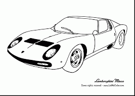 Beautiful Lamborghini Car Coloring Pages With Of Cars And Online