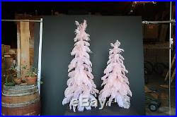 1920s Style Vintage Ostrich Feather Christmas Tree 60 Real Pink 5ft