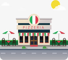 Pizza Shop Model Clipart Vector Png PNG And