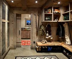 Mudroom Laundry Room Rustic Entrance
