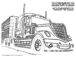 Amazing Semi Truck Coloring Pages 57 With Additional Free Colouring