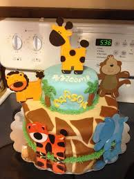Contemporary Design Safari Cakes Baby Shower Extraordinary Ideas