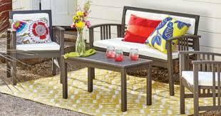 Cost Plus World Market Belize 4 Piece Outdoor Furniture Set ly