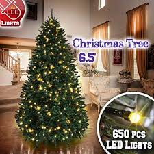 BenefitUSA 65 7 75ft Artificial Christmas Tree With Metal Stand Full Xmas Holiday 650 Clear Lights And 1880 Tips Find Out More About The