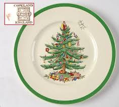 Spode Christmas Tree Green Trim Dinner Plate