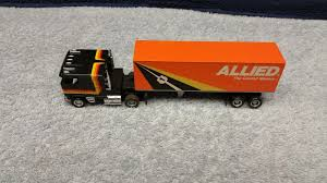 100 Allied Trucking Tyco US1 Electric Black Kenworth W Trailer HO Slot