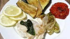 cuisiner le basilic dos de cabillaud au basilic et légumes à la plancha recette par