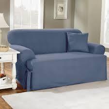 sure fit cotton duck t cushion sofa slipcover hayneedle