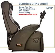 Video Gaming Chair With Footrest by The Ultimate Game Chair Slashgear