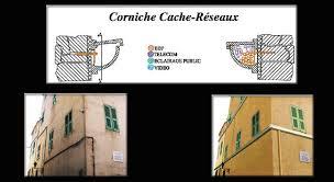corniche et cache réseaux de fils et câbles pour votre façade
