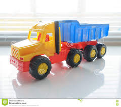Toy Dump Truck Close Up Stock Image. Image Of Contractor - 82150667