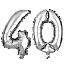 40th Birthday Decorations Nz by 40 Number Balloons 40th Birthday Party Balloons 40 Balloon