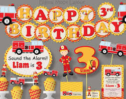 100 Fire Truck Birthday Party Fighter Ideas Photo 1 Of 5