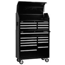Husky 41 In. 16-Drawer Tool Chest And Cabinet Combo Black-VRC-4116BK ...