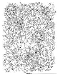 Online Free Printable Flower Coloring Pages For Adults 12 With Additional Book
