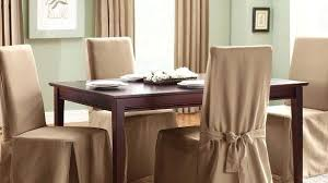 Dining Table Chair Covers Elegant Classic Slipcovers Cotton Duck Long Cover Intended