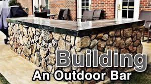 Outside Patio Bar Ideas by Building An Outdoor Bar Youtube
