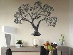 wanddeko metall baum altsilber wanddeko dekoration