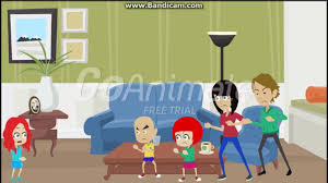 Caillou In The Bathtub Goanimate by Rosie Brakes The New Tv And Gets Grounded Youtube