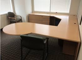 Knoll Reff Maple Veneer U Shaped Desk Set fice Furniture Idea in Houston TX