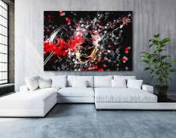 details zu leinwand bild abstrakt wein glas deko wandbilder kunstdruck leinwanddruck