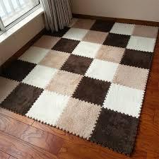 Warm Living Room Floor Mat Cover Carpets Rug Soft Area Puzzle Climbing Baby 3030cm Patchwork Carpet Online